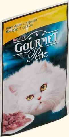 Gourmet Кусочки в подливке Gourmet Perl с курицей для кошек. 85 г