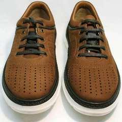 Мужские туфли кроссовки Vitto Men Shoes 1830 Brown White