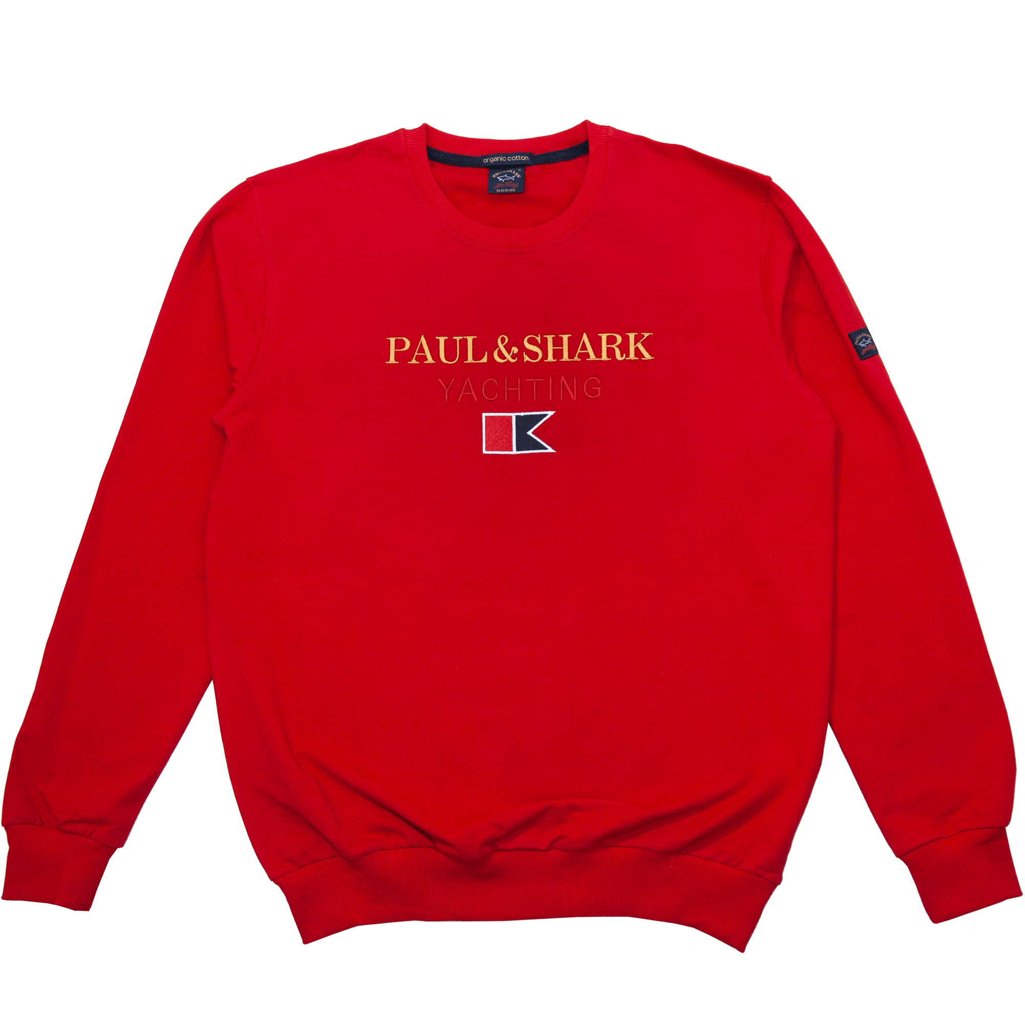 "Мужские спортивные кофты Толстовка ""Paul And Shark"" 66901 Red 2-min-1.png"