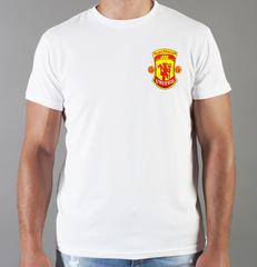 Футболка с принтом FC Manchester United (ФК Манчестер Юнайтед) белая 0017