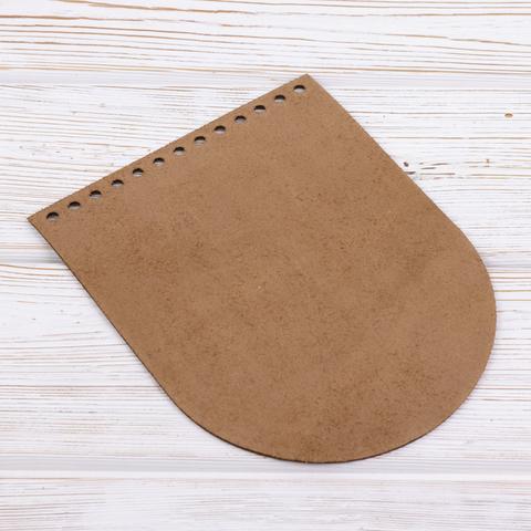 """Клапан для сумочки кожаный """"Мёд"""" 15,5*19,5 см"""