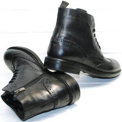 Теплые классические зимние ботинки мужские LucianoBelliniBC3801L.