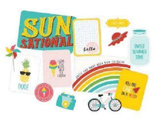 Kit набор карточек и украшений для Project Life -Sunkissed -120шт
