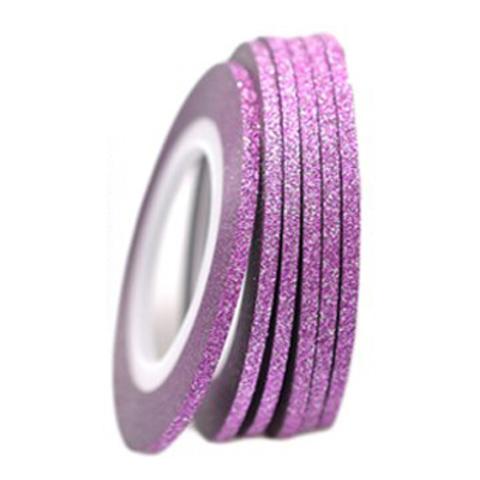 Фольга-лента на клейкой основе блестящая (розовая)