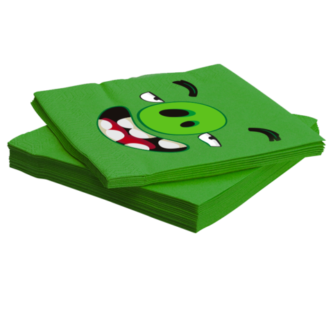 Салфетки, Angry Birds, Зеленый, 33*33 см, 20 шт.