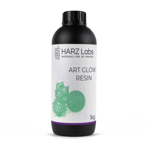Фотополимер HARZ Labs ART Glow Resin, светящийся зеленый (1000 гр)