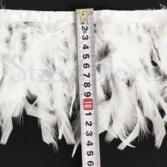 Купить оптом перья Индейки на ленте для украшения купальника White белые