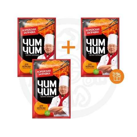 2 + 1 Корейская заправка для моркови ЧИМ ЧИМ 60г