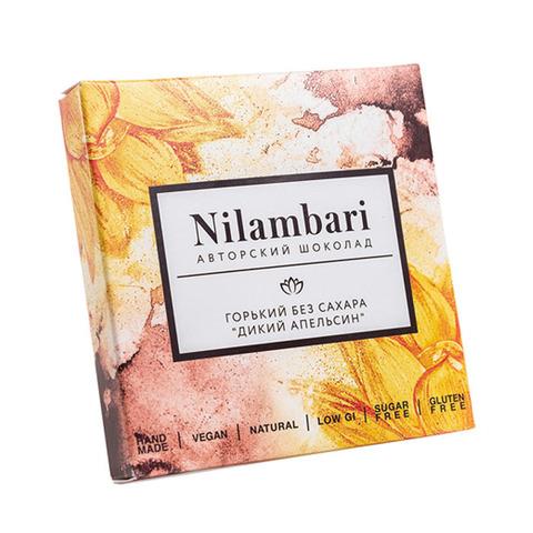 Фотография Шоколад Nilambari горький без сахара «Дикий апельсин» / 65 гр купить в магазине Афлора