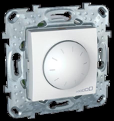Светорегулятор/Диммер для ламп накаливания и галогенных ламп 40-1000 В. поворотно-нажимной. Цвет Белый. Schneider electric Unica. MGU5.512.18ZD