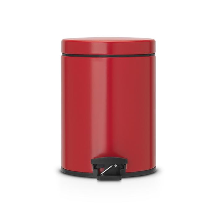 Мусорный бак Brabantia с педалью (5л), Классический, Пламенно-красный, арт. 483707 - фото 1