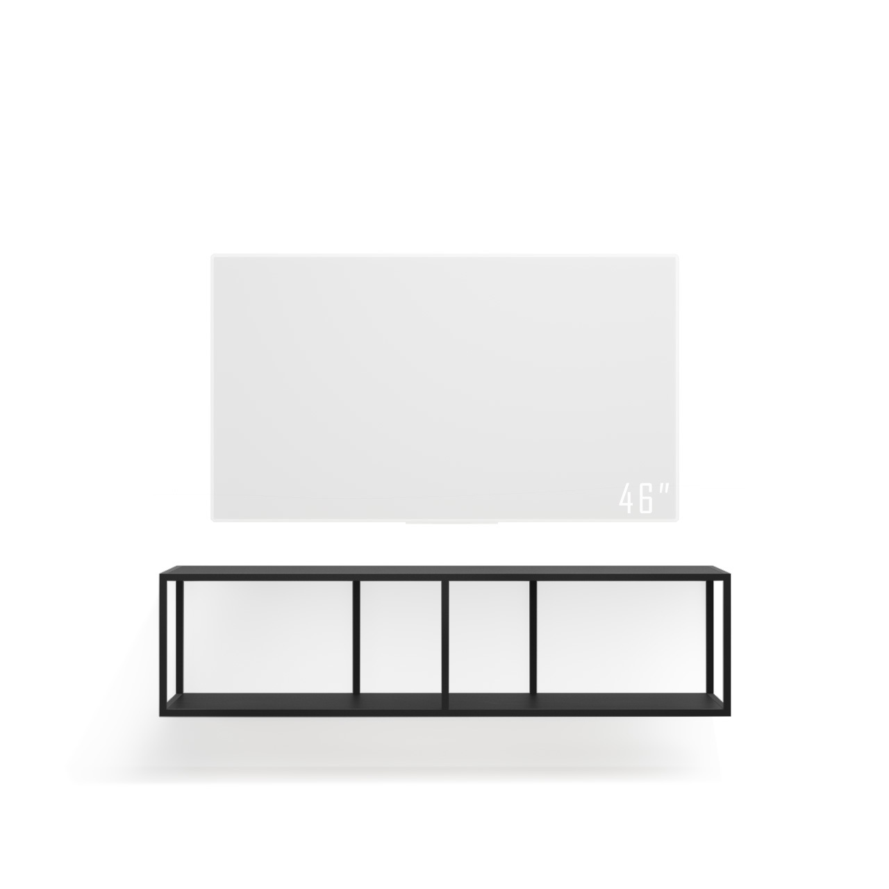 Тумба TV stand lite black подвесная - вид 8