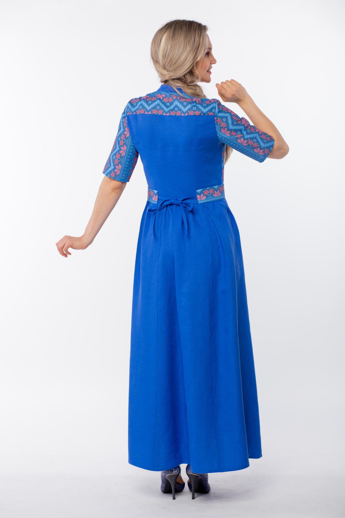 Платье Вольная вода макси вид сзади