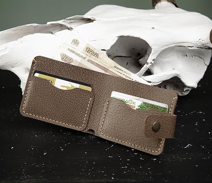 WB181-2 Классический мужской кошелек ручной работы фото 05