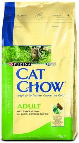 Cat Chow Для кошек с кроликом и печенью (adult rabbit) 400 г