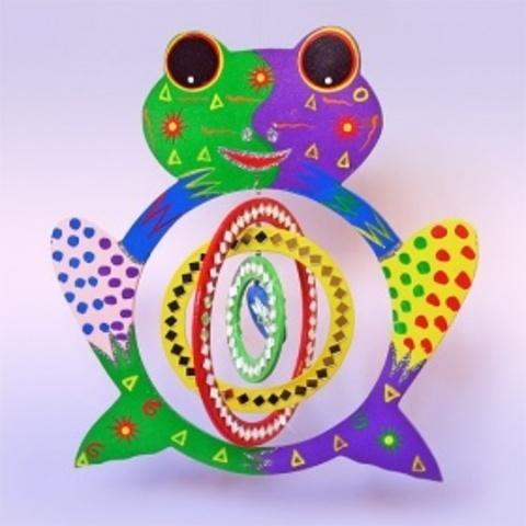 Спираль Лягушка с зеркалами цветная