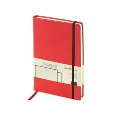 Блокнот Bruno Visconti Megapolis Velvet A5 100 листов красный в клетку на сшивке с фиксирующей резинкой (144х212 мм)