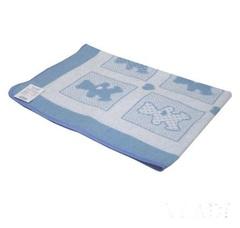 Vladi. Одеяло байковое Барни 100% хлопок, 100х140 см, бело-голубой