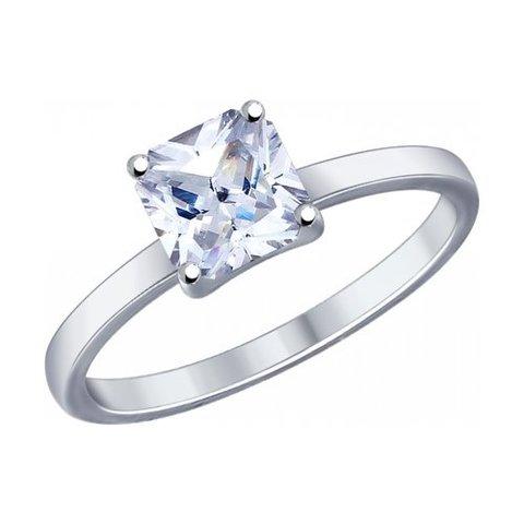 89010032 - Кольцо из серебра с Swarovski Zirconia