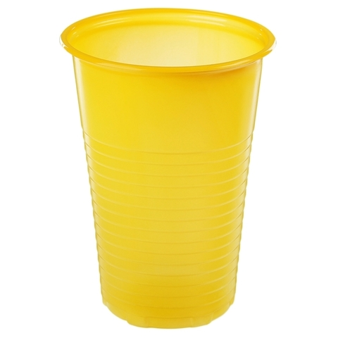 Стакан одноразовый 200 мл - желтый РР
