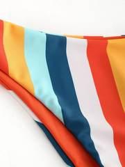 купальник бандо раздельный оранжевый радуга Orange-Rainbow 4