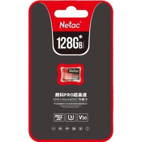 Карта памяти Micro SD Netac P500 Pro, 128 ГБ, tf-карта U3 V30