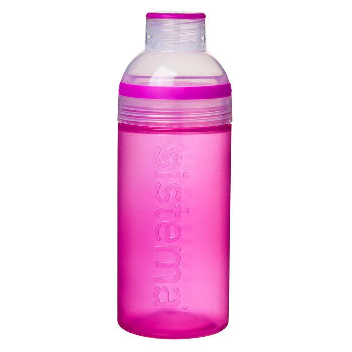 """Бутылка для воды Sistema """"Hydrate"""" 580  мл, цвет Розовый"""