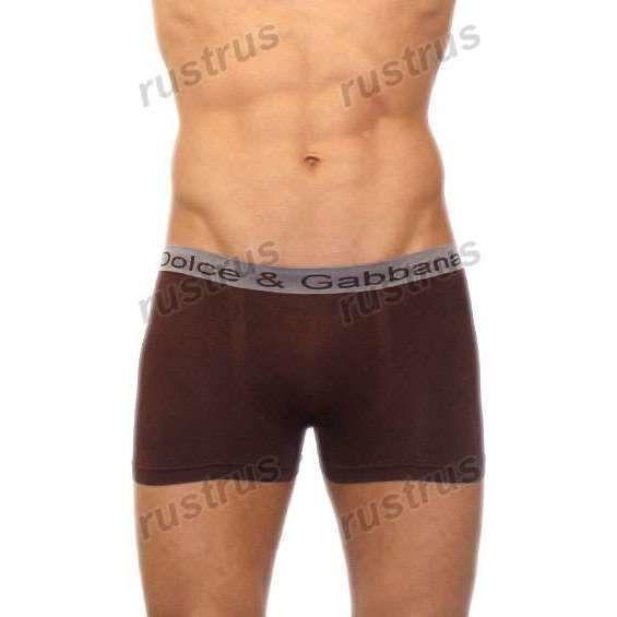 Мужские трусы хипсы коричневые бесшовные Dolce&Gabbana