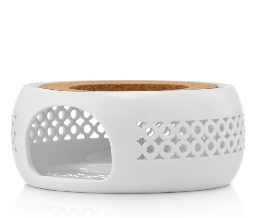 """Подставка для чайника Подставка-нагреватель """"Prometheus"""" для подогрева чайника свечой керамическая CH06W белая podstavka-podogrev-CH06W-teastar.PNG"""