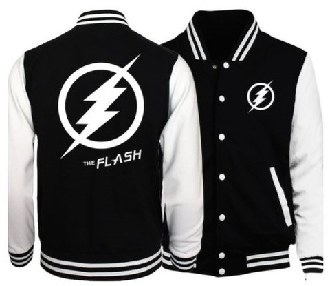 Куртка бейсбольная Флэш — Baseball Jacket The Flash