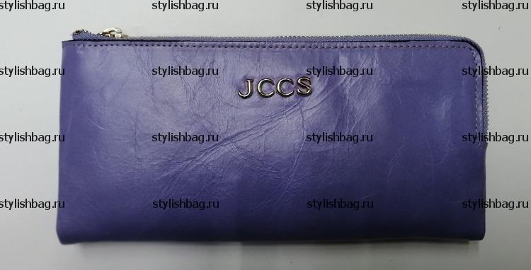 Женский сиреневый кошелек на двух молниях JCCS js-3534