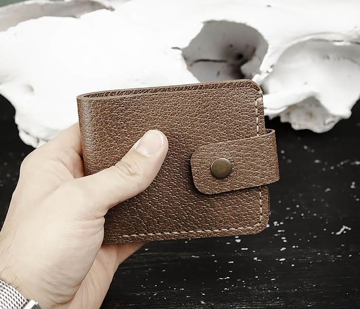 WB181-2 Классический мужской кошелек ручной работы фото 07