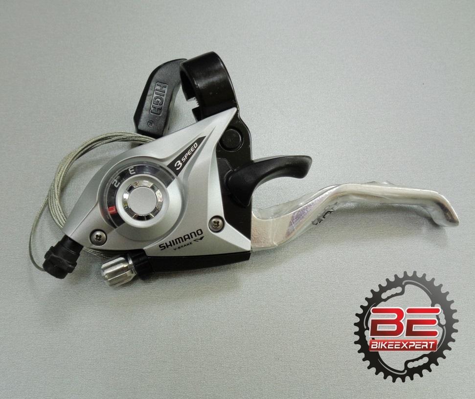 Комборучка Shimano EF-51 3 скорости серая
