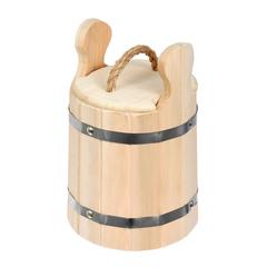 Кадка из липы для воды и заготовки солений с крышкой и гнётом 3л