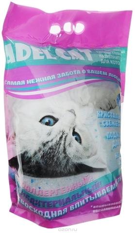 Наполнитель Adel cat силикагель для котов с голубыми гранулами 8л 8 л