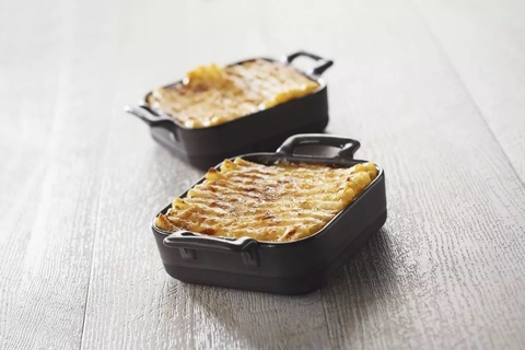 Квадратное фарфоровое блюдо для запекания, черное, артикул 647684 серия Belle Cuisine