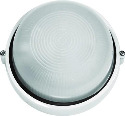 Светильник влагозащ.Camelion 60Вт Открытый белый круг 1302S