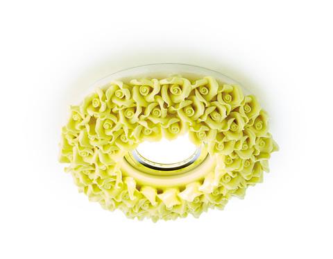 Встраиваемый потолочный точечный светильник D5505 YL желтый керамика