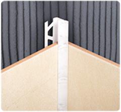 Уголок для плитки 10мм внутренний однотонный
