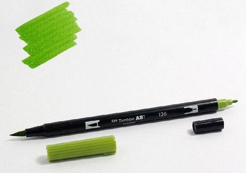 Маркер-кисть Tombow ABT Dual Brush Pen-126, светло-оливковый