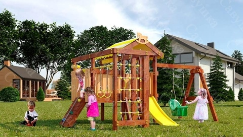 Деревянная детская площадка