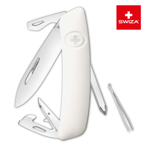 Швейцарский нож Swiza  (KNI.0040.1020) D04 Standard 95 мм 11 функций белый