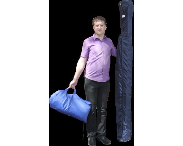 Торговая палатка Митек Домик 3x2 из квадратной трубы ⊡20х20 мм с логотипом