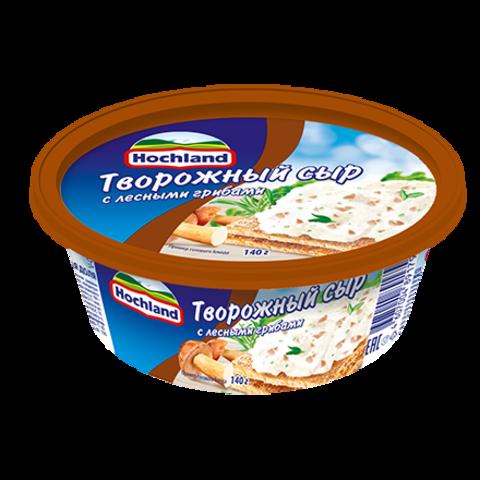 """Сыр творожный """"Hochland"""" с лесными грибами  140 г"""