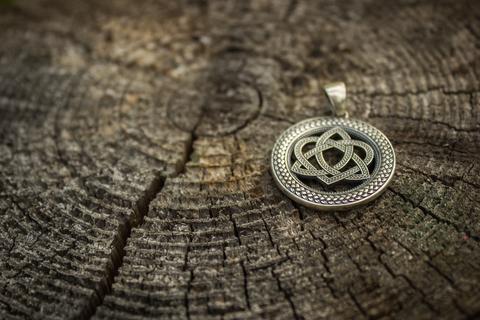 серебряный талисман Кельтское Сердце