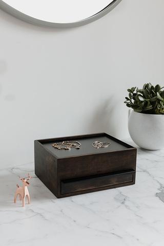Шкатулка для украшений Stowit чёрный-орех