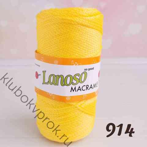 LANOSO MACRAME PP 914, Желтый