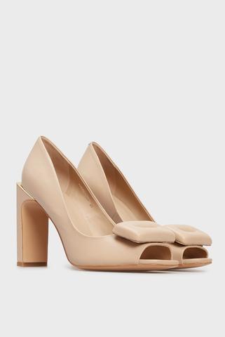 Женские бежевые кожаные туфли Ofeliya PRPY
