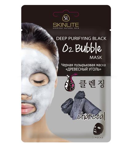 Черная пузырьковая маска