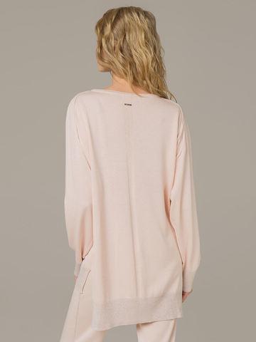 Женский джемпер светло-розового цвета из шелка и кашемира - фото 2